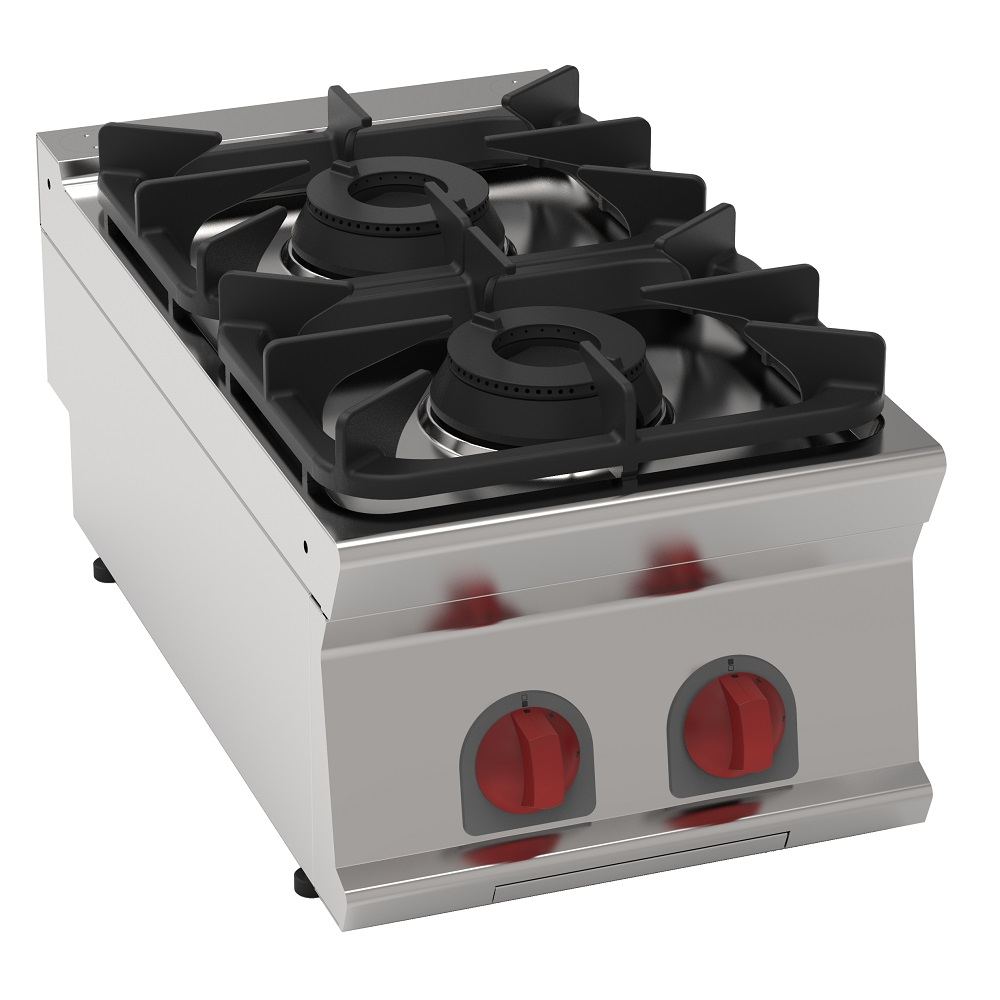 Eurast 35200317 Gas boiling 2 burners table top - 400x700x280 mm - 14.4 Kw