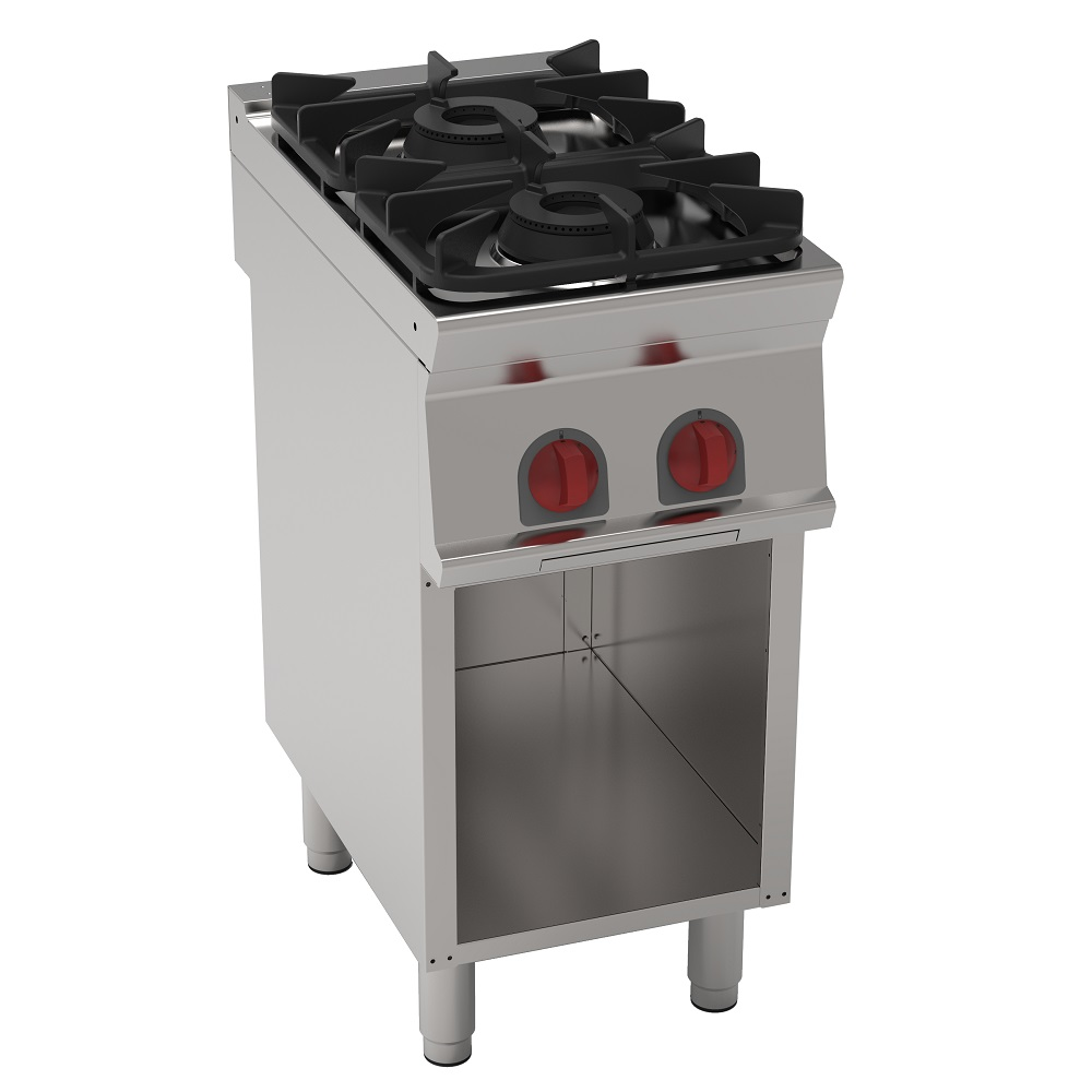 Eurast 35710317 Gas cooker 2 burners on open support - 400x700x900 mm - 14.4 Kw