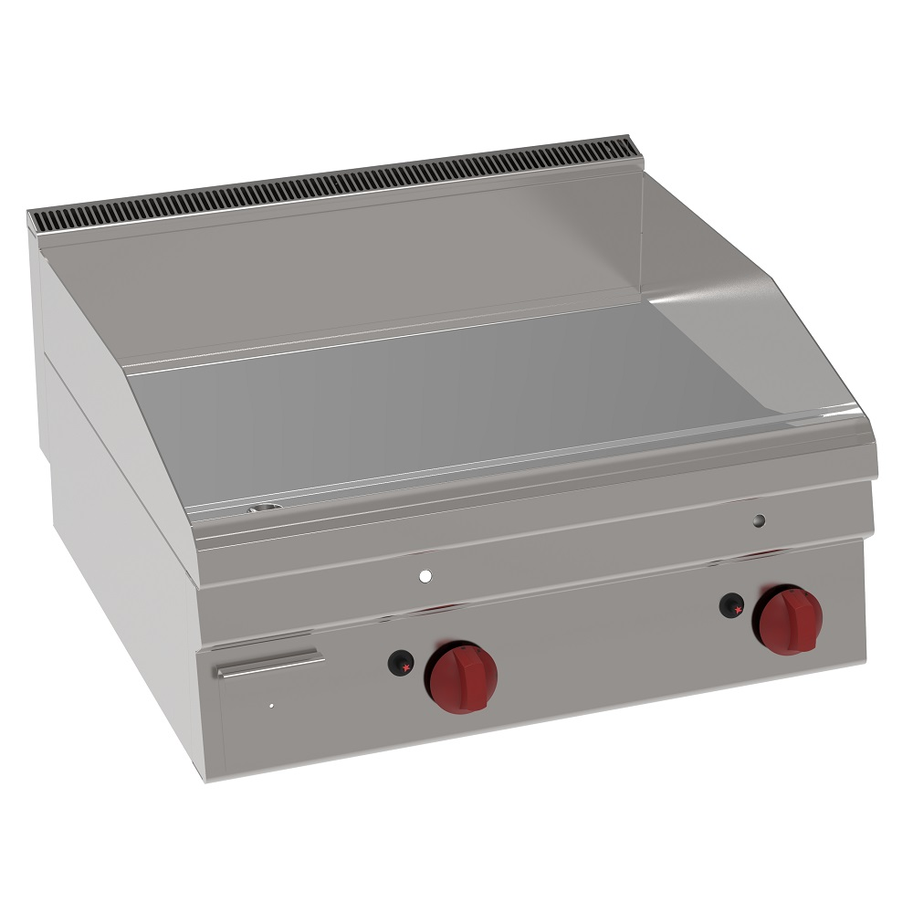 Eurast 30420621 Electric iron hot plate 15 mm  smooth table top - 700x600x280 mm - 7,8 Kw 400/3V