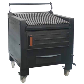 Eurast 52000008 Vegetable charcoal barbecue 1 grill 62x78 - 800x820x930 mm