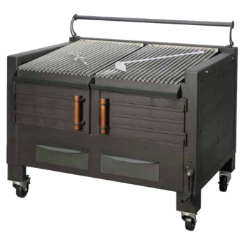 Eurast 52000021 Vegetable charcoal barbecue 2 grills 48x78 - 1200x820x930 mm