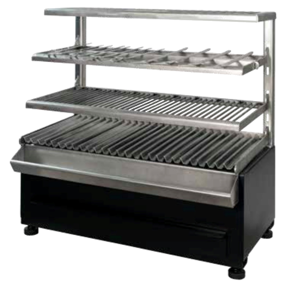 Eurast 52995353 Vegetable charcoal barbecue 2 grids 76x26 - 785x410x780 mm