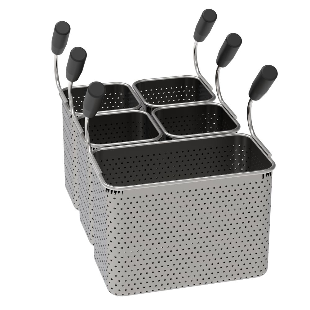 Eurast 4A705993 Basket pasta cooker pak 1 gn 1/3 and 4 gn 1/6
