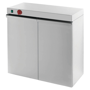 Eurast 62030240 Electric hot cupboard for dishes 2 doors - 800x460x870 mm - 1,5 KW 230/1V