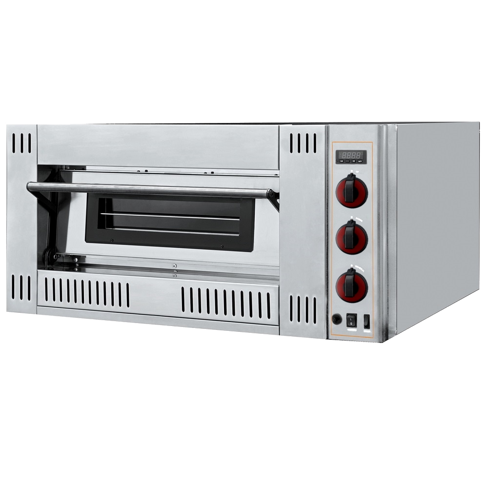 Eurast 519GR122 1 chamber gas pizza oven for 9 pizzas ø 300 - 1300x1140x480 mm - 27 Kw