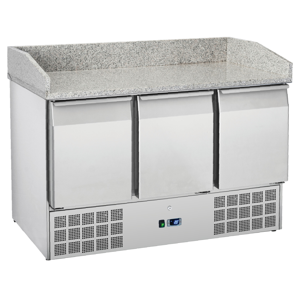 Eurast 76A39MRC Unit for preparing pizzas 3 doors - 1400x700x880 mm - 300 W 230/1V