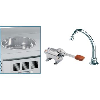 Eurast 63390000 Handwasher kit with tap and footpush