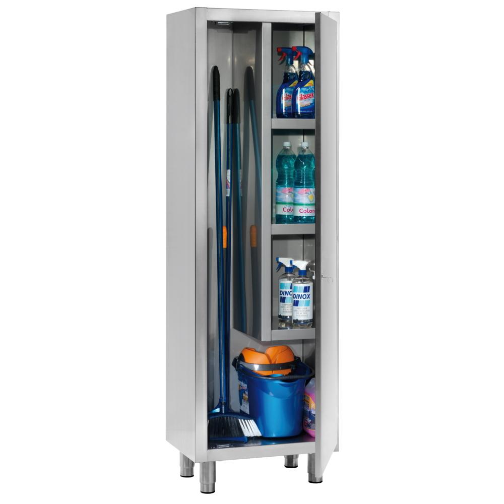 Eurast 11020420 Cleaning cabinet 1 door 4 shelves - 600x450x1900 mm