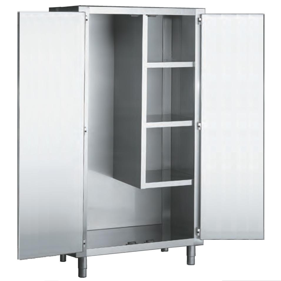 Eurast 12020420 Cleaning cabinet 2 door, w/shelves - 1000x450x1900 mm