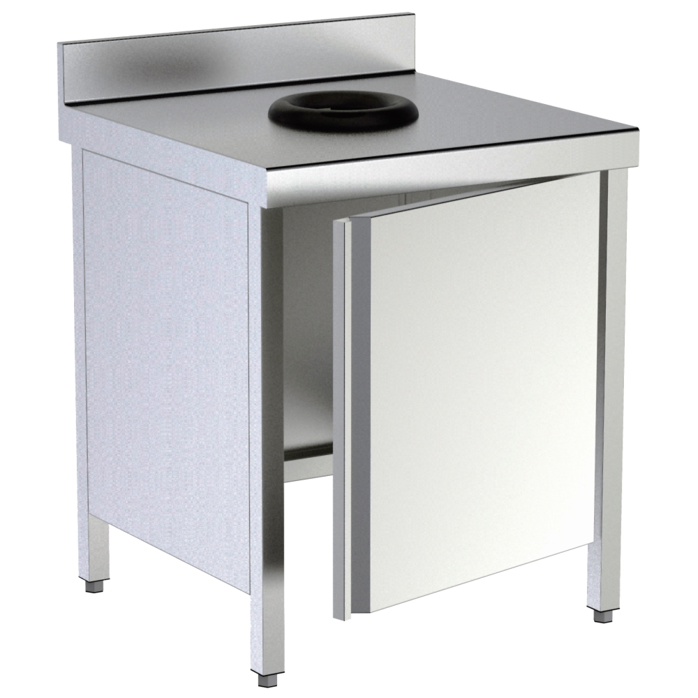 Eurast 1M21552M Mural work table with 2 shelves assembled - 1200x550x850 mm